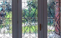 Longyear French Door Inserts  |  Brookline . Massachusetts