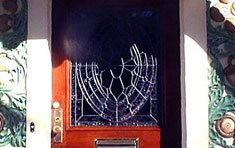 Spiderweb Door Insert  |  Newton . Massachusetts