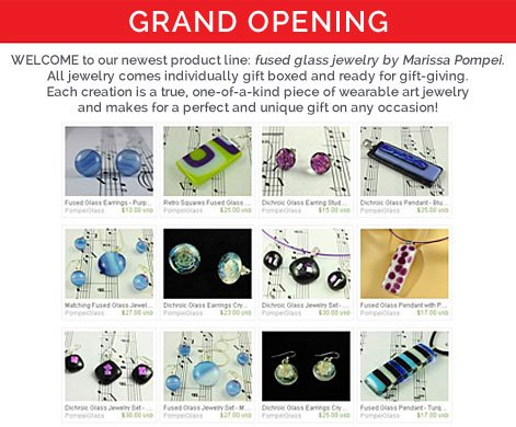 Fused Glass Jewelry Grand Opening