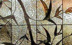 Bamboo & Vine • Bath Window | Winchester . Massachusetts