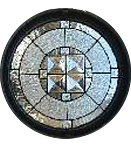 Andersen Stained Glass Circle and Oval Windows
