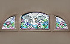 Andersen Stained Glass Combination Shape Windows