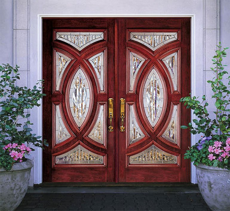 Mahogany Composite Double Door Entry