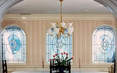 Formal Dining Room • Beveled Glass | Lynnfield . Massachusetts