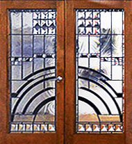 Stained Glass Contemporary Entry Door