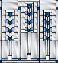 Frank Lloyd Wight Stained Gl Custom Made Windows