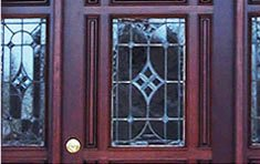 IWP Entry with Custom Leaded Beveled Glass | Winchester . Massachusetts