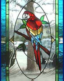 Stained Glass Macaw