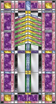 Spring Prairie Style Stained Glass