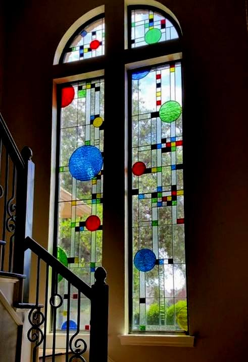 Frank Lloyd Wright Coonley House Inspired Window