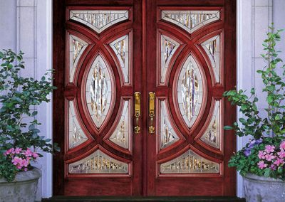 Beveled Glass Double Door