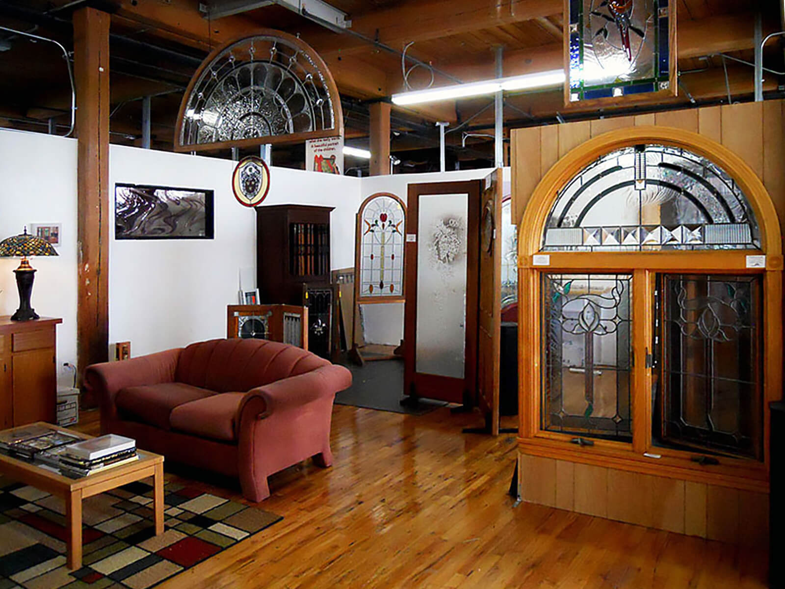 Pompei Stained Glass Studio Showroom - Western Avenue Studios Lowell, MA