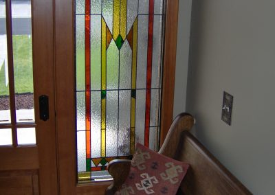Sidelight with Prairie stained glass
