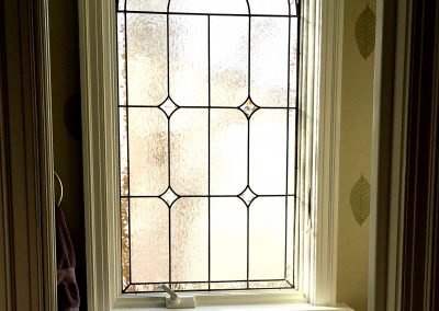 Bathroom leaded glass panel