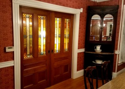Pocket Door stained glass panels